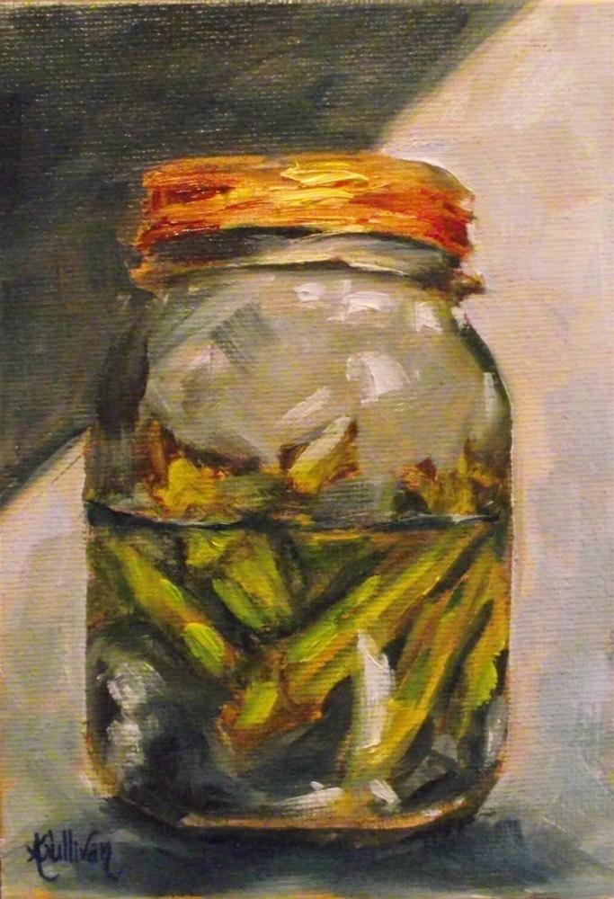 """Pickled Okra"" original fine art by Angela Sullivan"