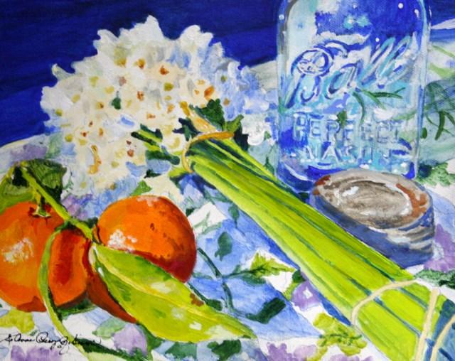 """Ball Vase"" original fine art by JoAnne Perez Robinson"