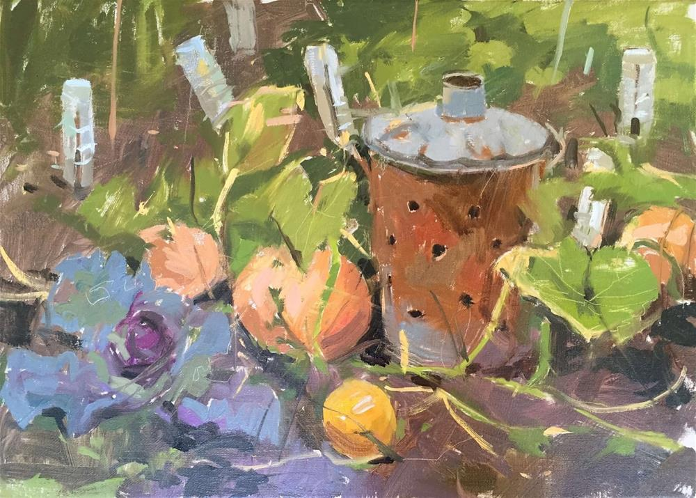 """Ormesby pumpkins"" original fine art by Haidee-Jo Summers ROI"