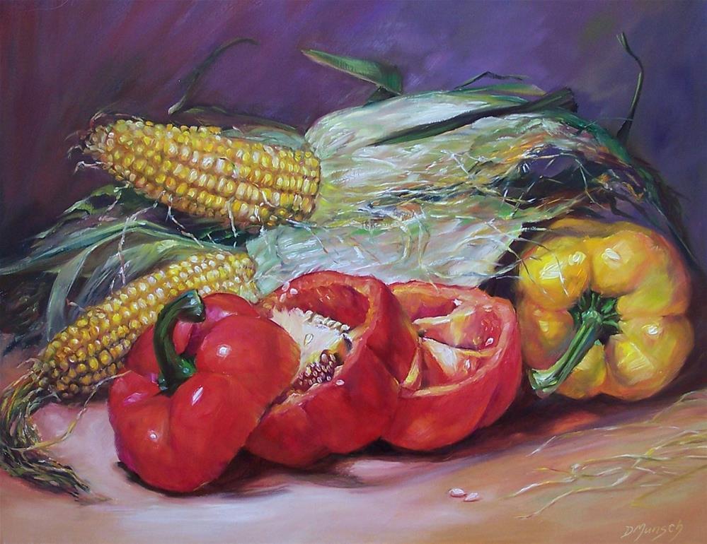 """""""Pepper Corn"""" original fine art by Donna Munsch"""