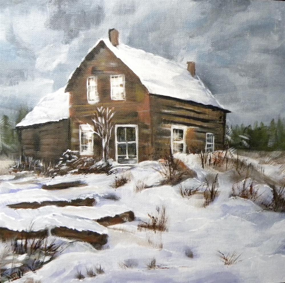 """Winter Retreat"" original fine art by cheryl buhrman"