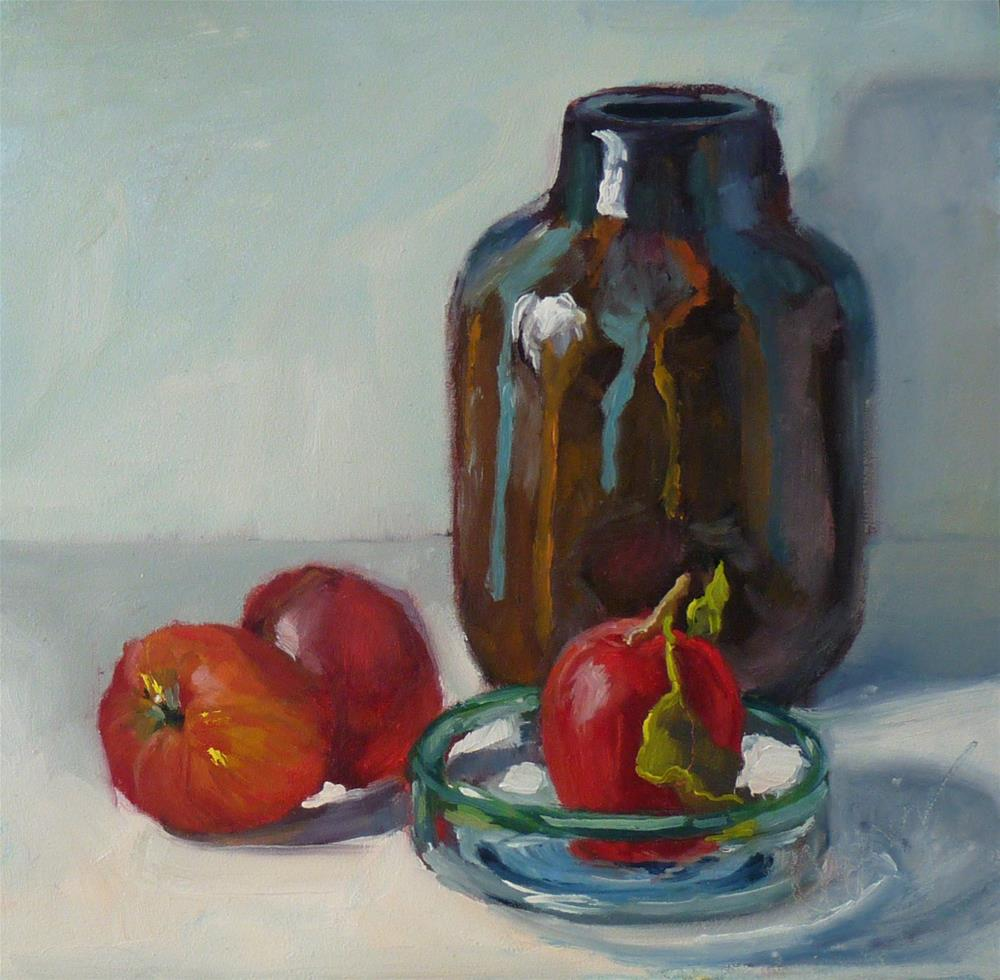 """Gift Shop with Apples"" original fine art by Sharman Owings"