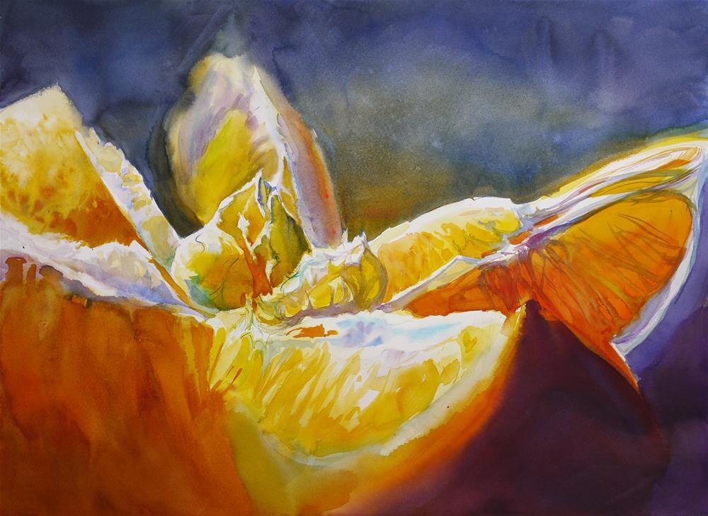 """Mont orange"" original fine art by Beata Musial-Tomaszewska"