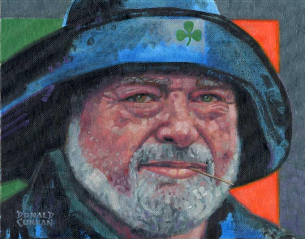 """Irish Fisherman"" original fine art by Donald Curran"