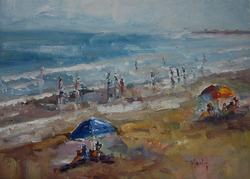"""Beach Scene"" original fine art by Deborah Harold"