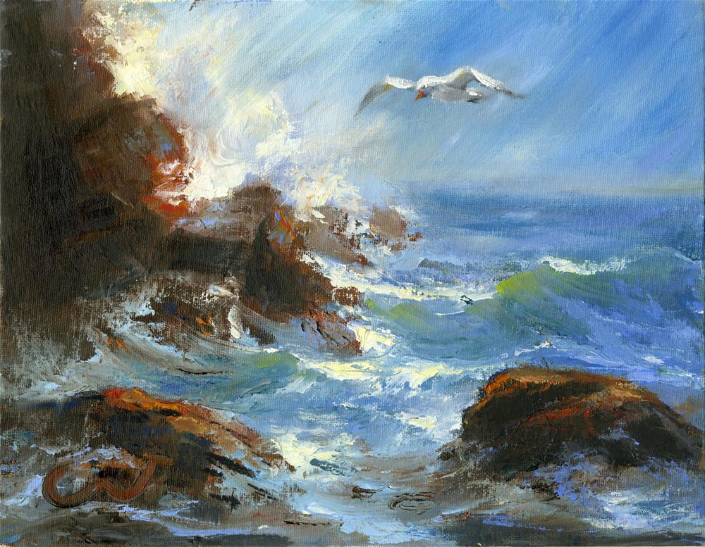 """Windswept"" original fine art by Sharon Abbott-Furze"