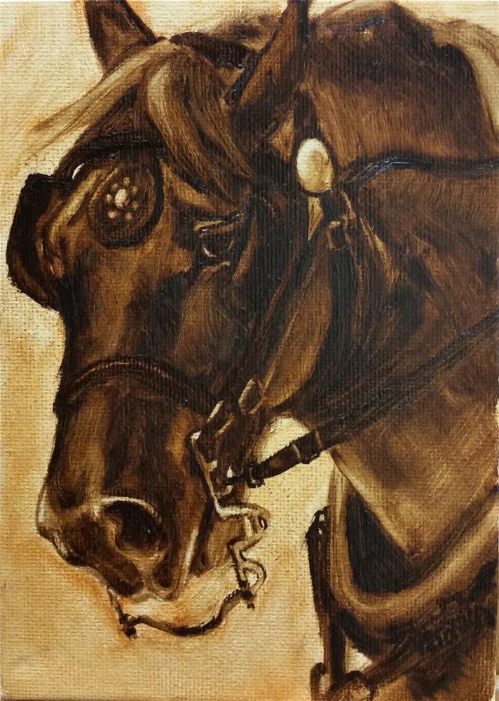 """Percheron-value study"" original fine art by Veronica Brown"