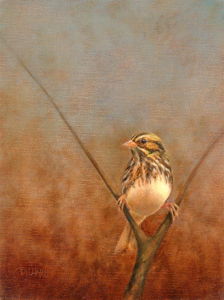 """Sparrow Outlook"" original fine art by Susanne Billings"