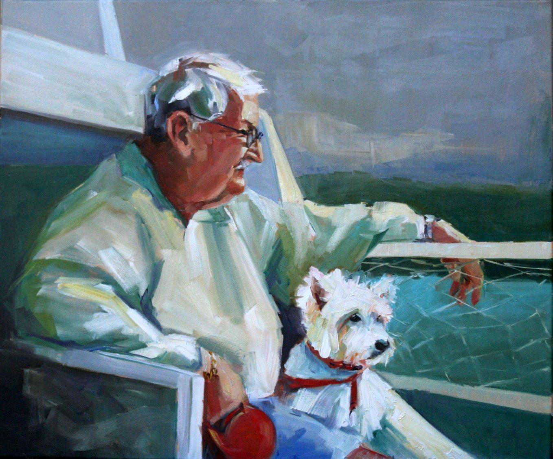 """putter and me"" original fine art by Carol Carmichael"