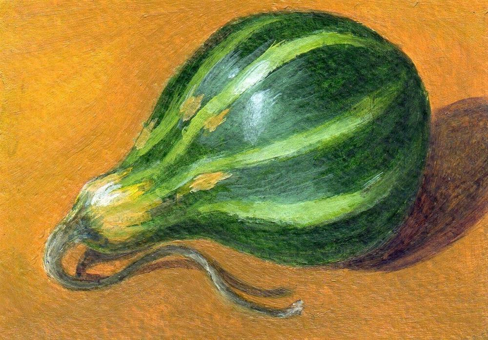 """Grateful Gourd"" original fine art by Debbie Shirley"