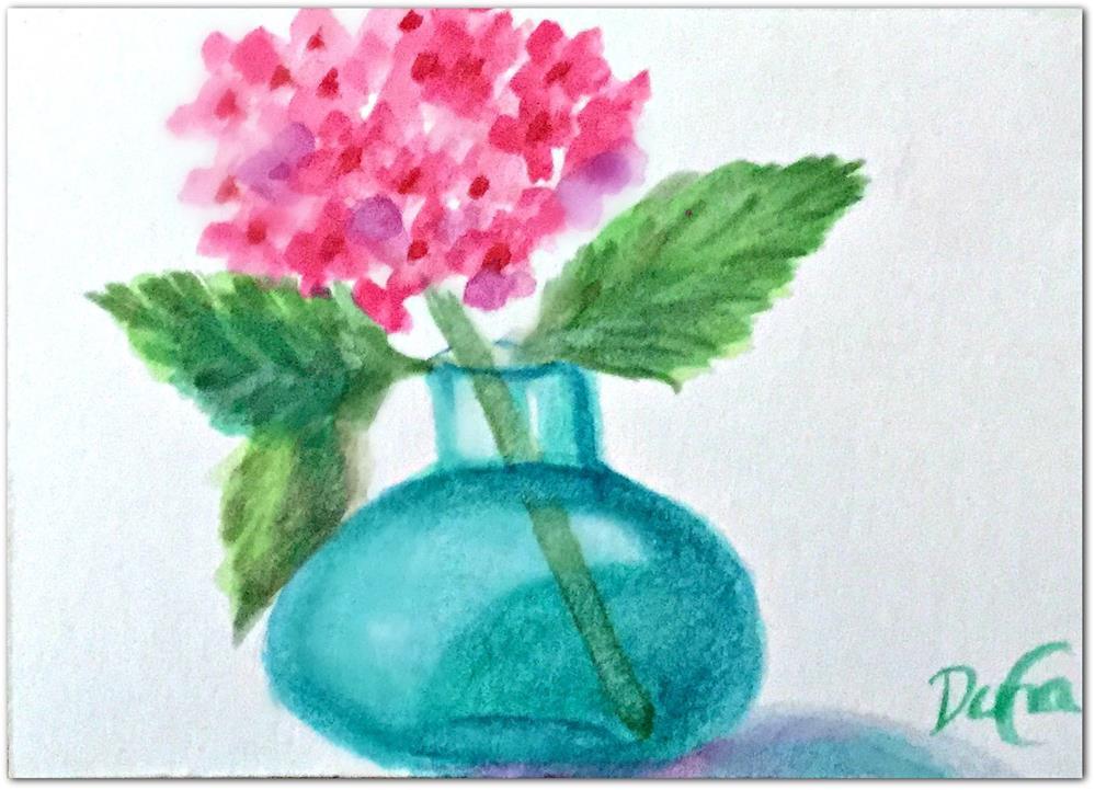"""My Little Hydrangea"" original fine art by Dana C"