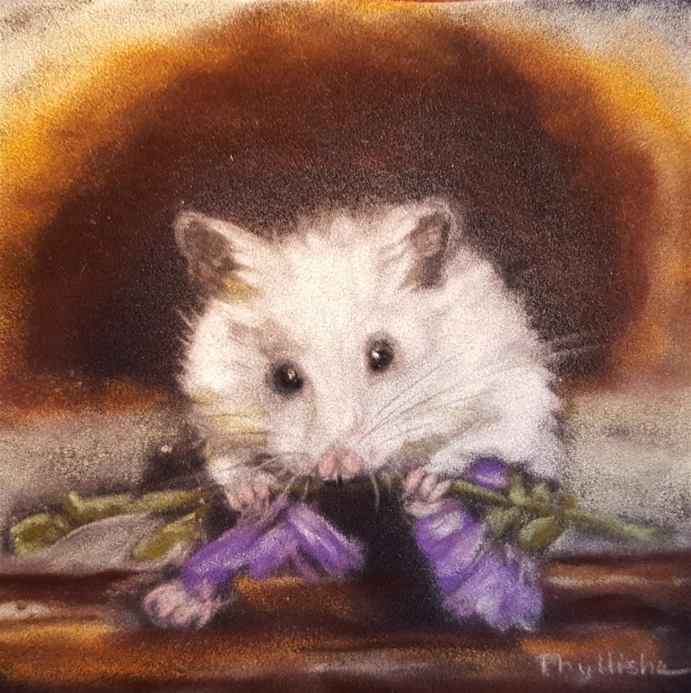 """Just Having a Little Dinner"" original fine art by Phyllisha Hamrick"