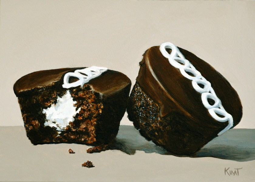 """Chocolate Cupcakes"" original fine art by Kim Testone"
