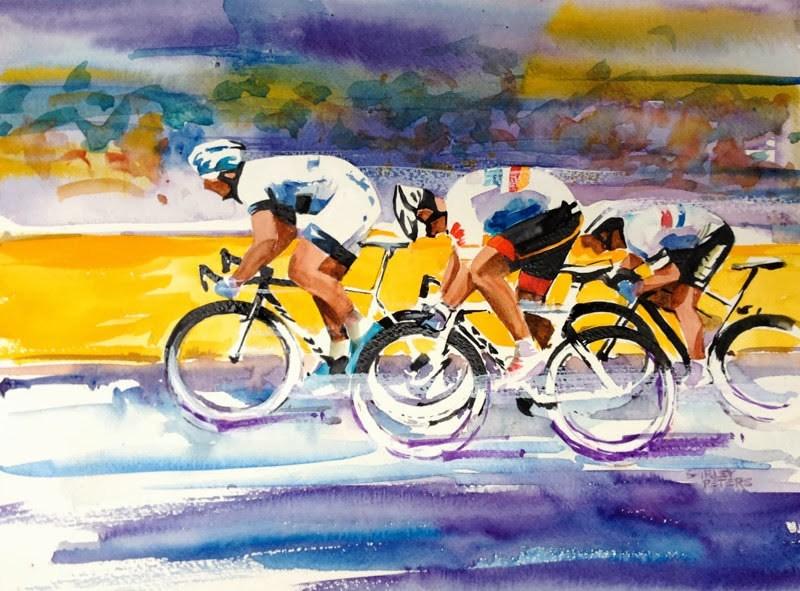 """Golden Dash"" original fine art by Shirley Peters"