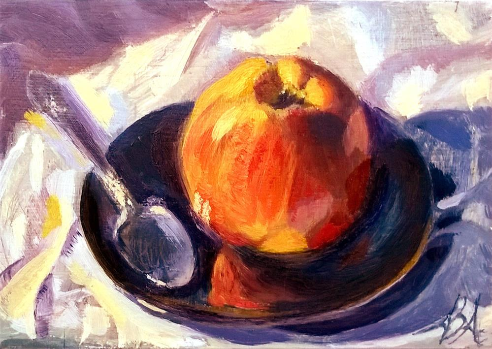 """Apple in Kaleidoscope Light"" original fine art by Adriana B. Almquist"