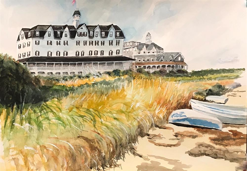 """Old Harbor, Block Island"" original fine art by Bunny Griffeth"