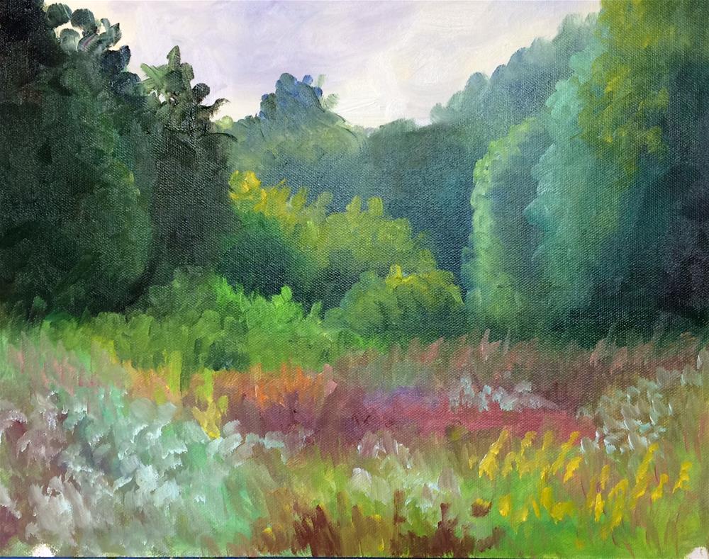 """Cloudy But Colorful"" original fine art by Carol Roark"