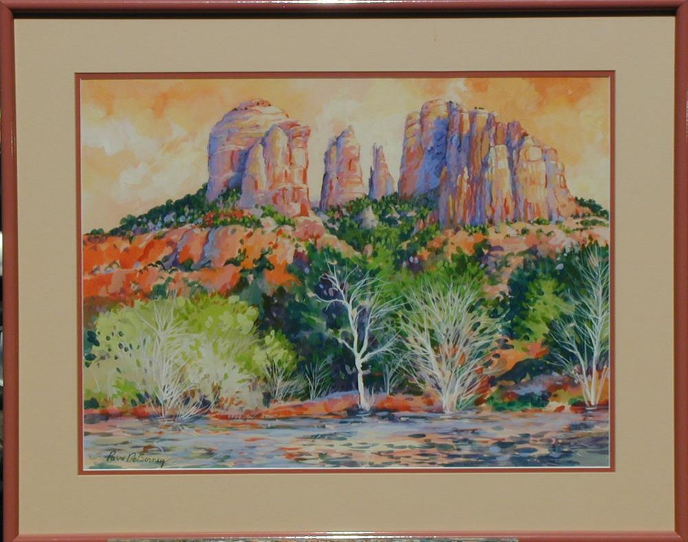 """Red Rock Crossing, Sedona framed"" original fine art by Jean Pierre DeBernay"