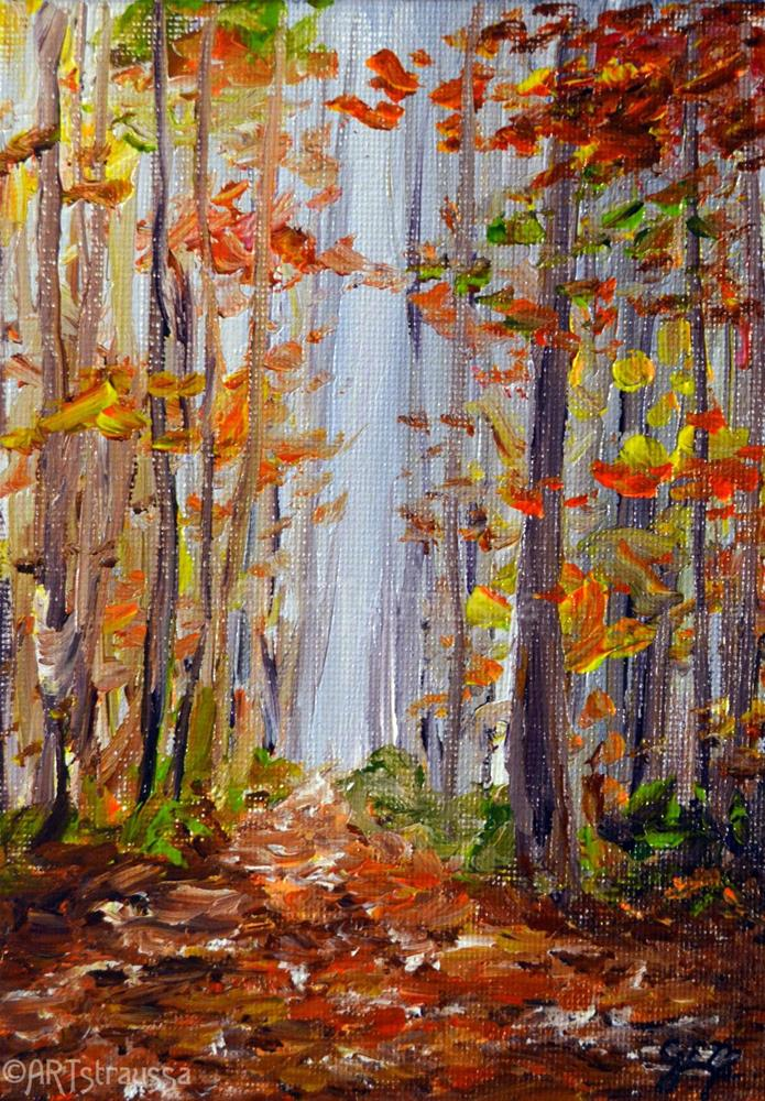 """Autumn In Huron County"" original fine art by Gloria Ester"