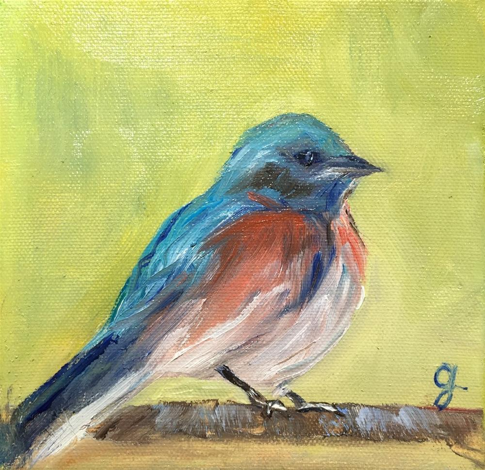 """Blue Too"" original fine art by Gayle Lambeth"