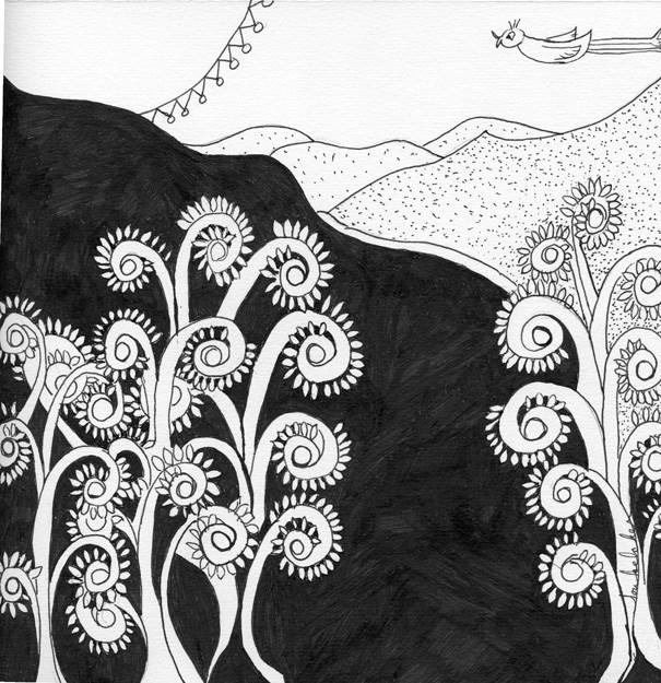 """""""Through the Hills"""" original fine art by Lou Belcher"""