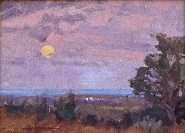 """Before Morning Moon"" original fine art by V.... Vaughan"