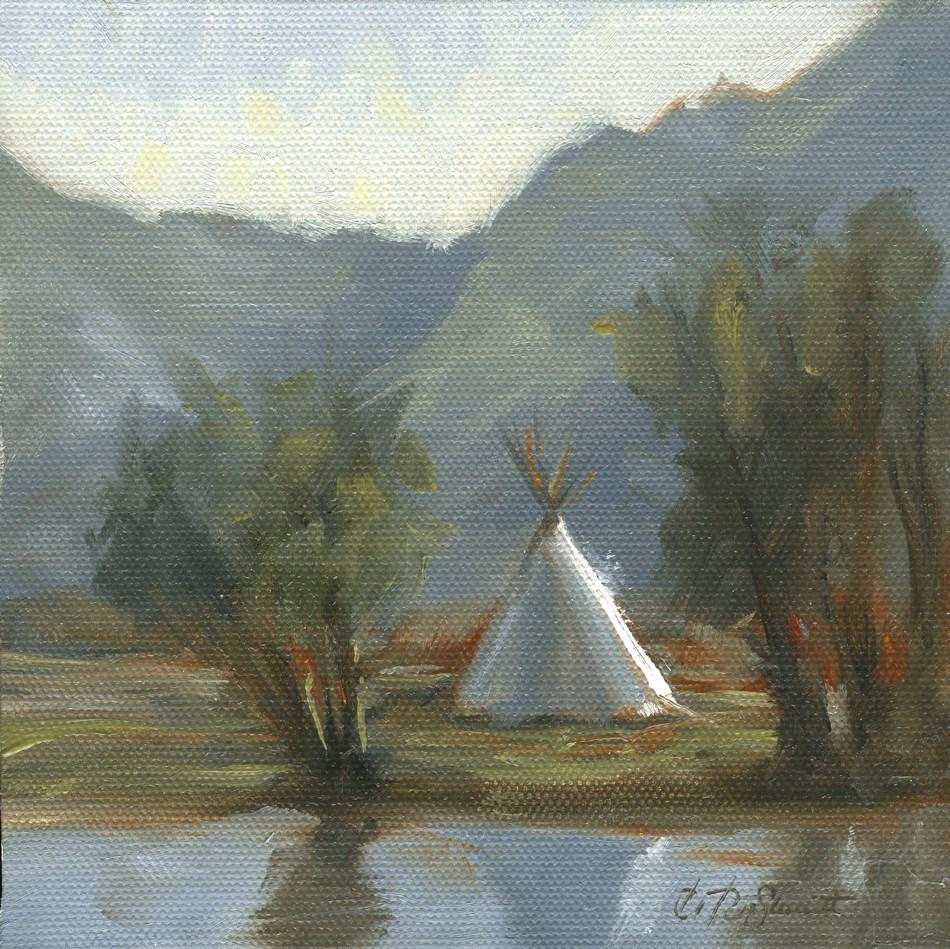 """""""Reservation Blues"""" original fine art by B. Rex Stewart"""