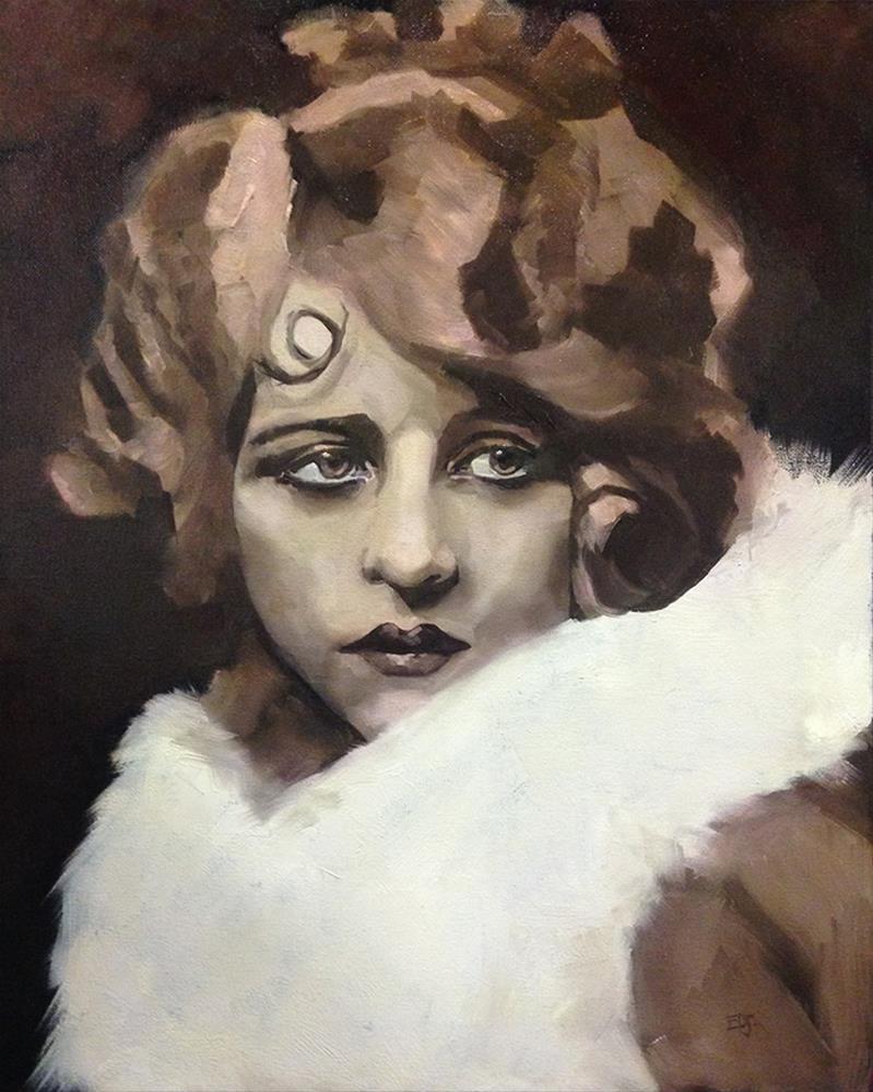 """""""Myrna"""" original fine art by Elizabeth Dawn Johnston"""