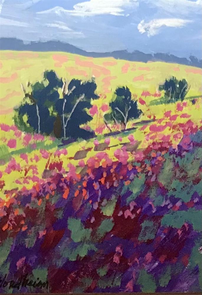 """""""Flower Field"""" original fine art by Linda Blondheim"""