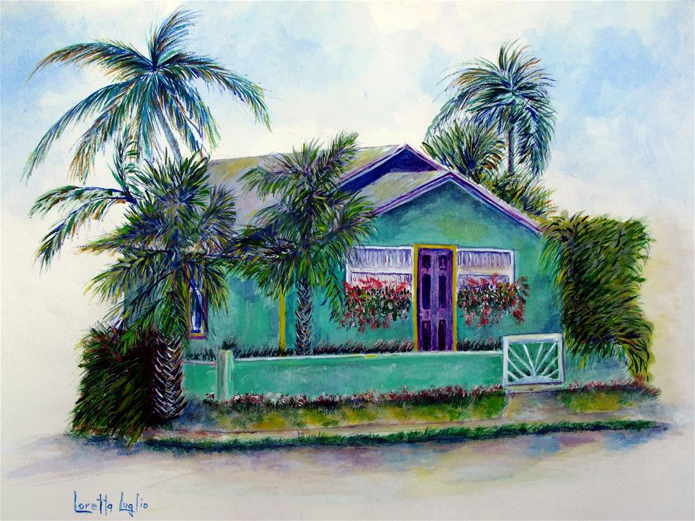 """Green Cottage"" original fine art by Loretta Luglio"