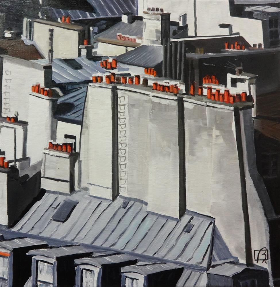 """""""Paris Rooftops"""" original fine art by Andre Beaulieu"""