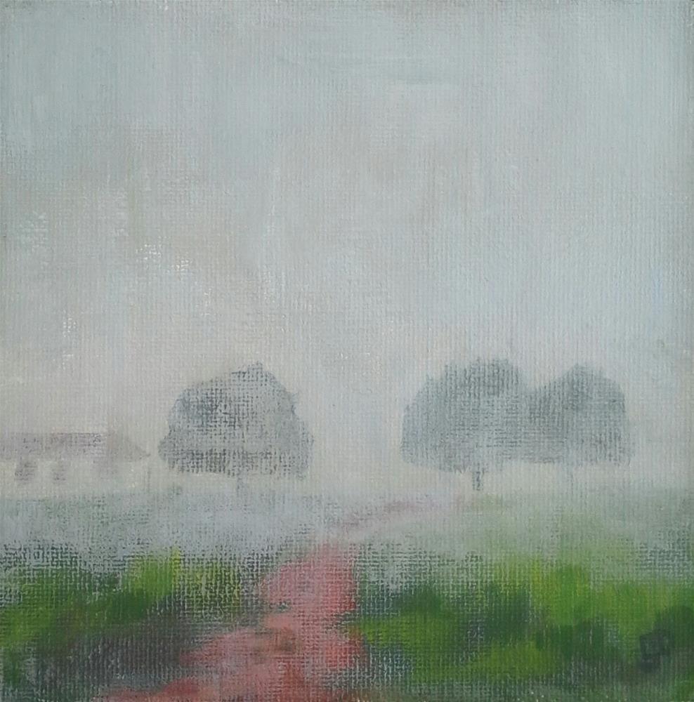 """Fogged In - Fog Challenge #3"" original fine art by Leanne Owen"
