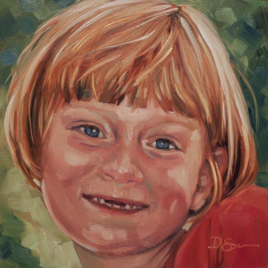 """Eyes of Love No.23 Abby"" original fine art by Deborah Savo"