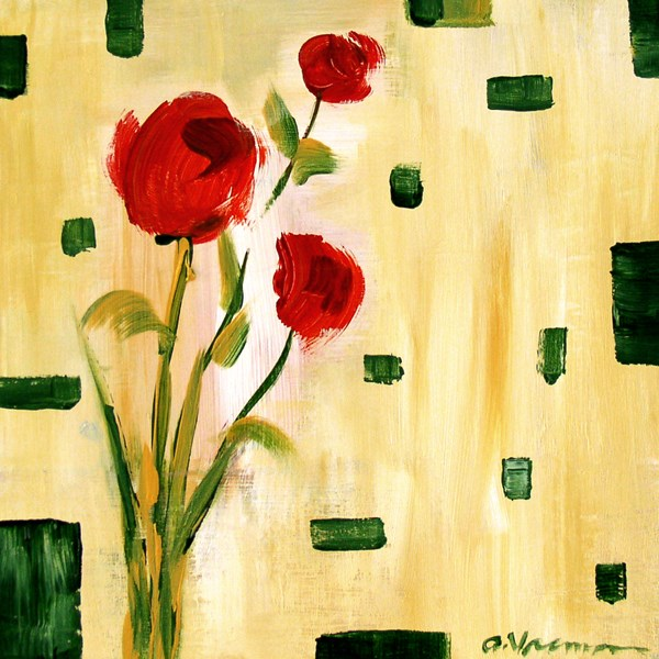 """Roses Are Red"" original fine art by Anna Vreman"