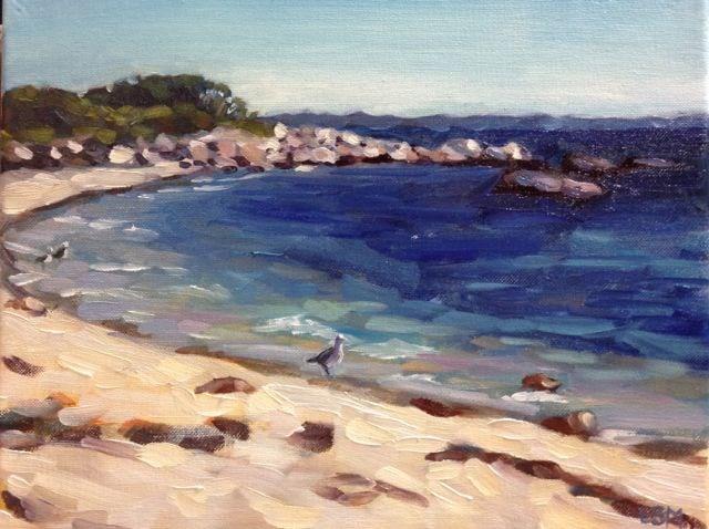 """""""Sapphire Waters"""" original fine art by Linda Marino"""