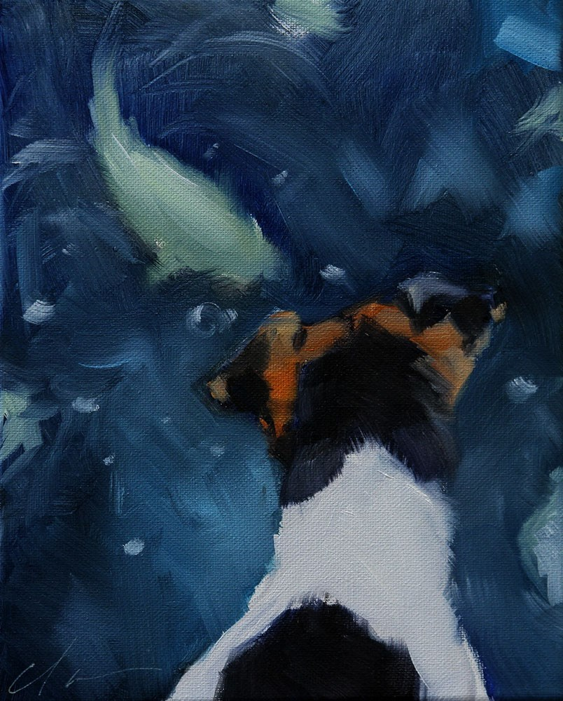 """The Daily Dog - Sixteen"" original fine art by Clair Hartmann"