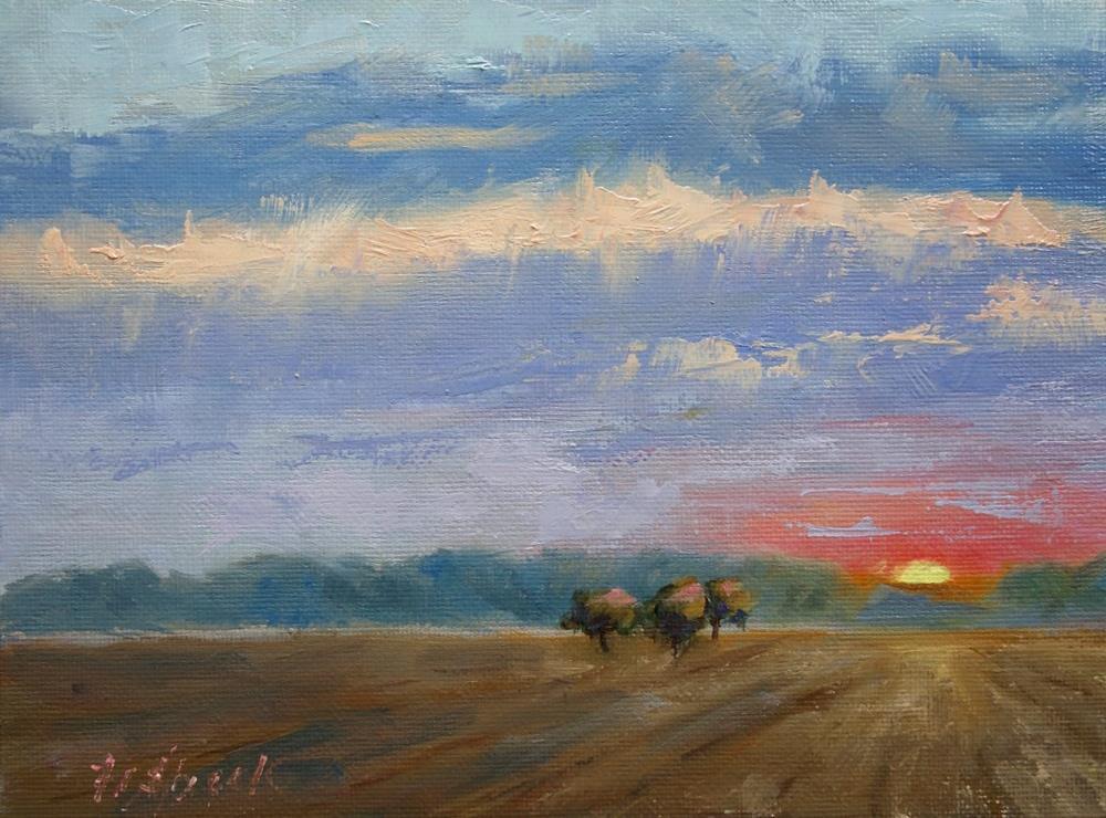 """Three Trees"" original fine art by Daniel Fishback"