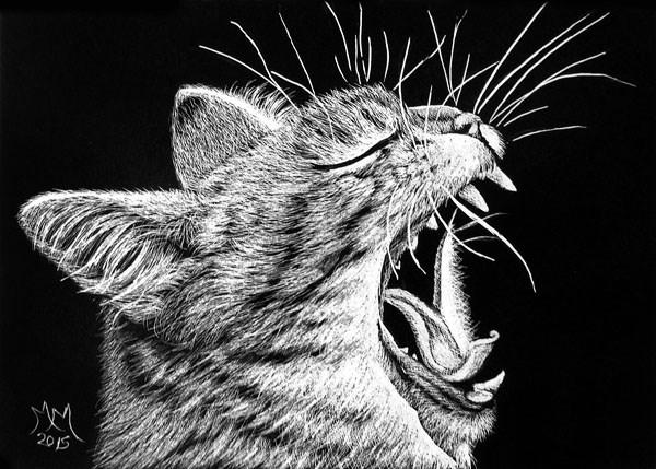 """""""Big Cat Roar"""" original fine art by Monique Morin Matson"""