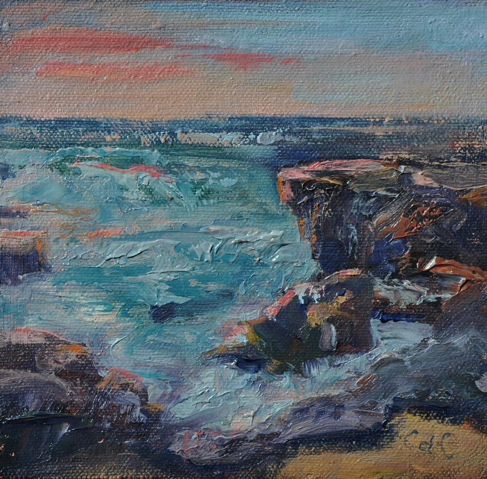 """Rocky Shore"" original fine art by Catherine Crookston"