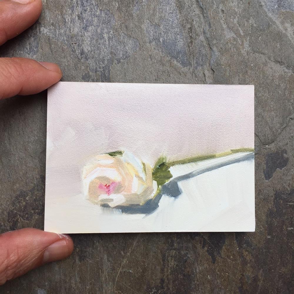 """277 Mini Peony"" original fine art by Jenny Doh"