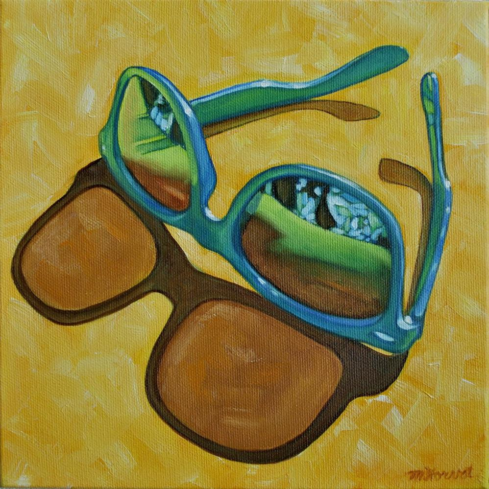 """Sunglasses"" original fine art by Margaret Horvat"