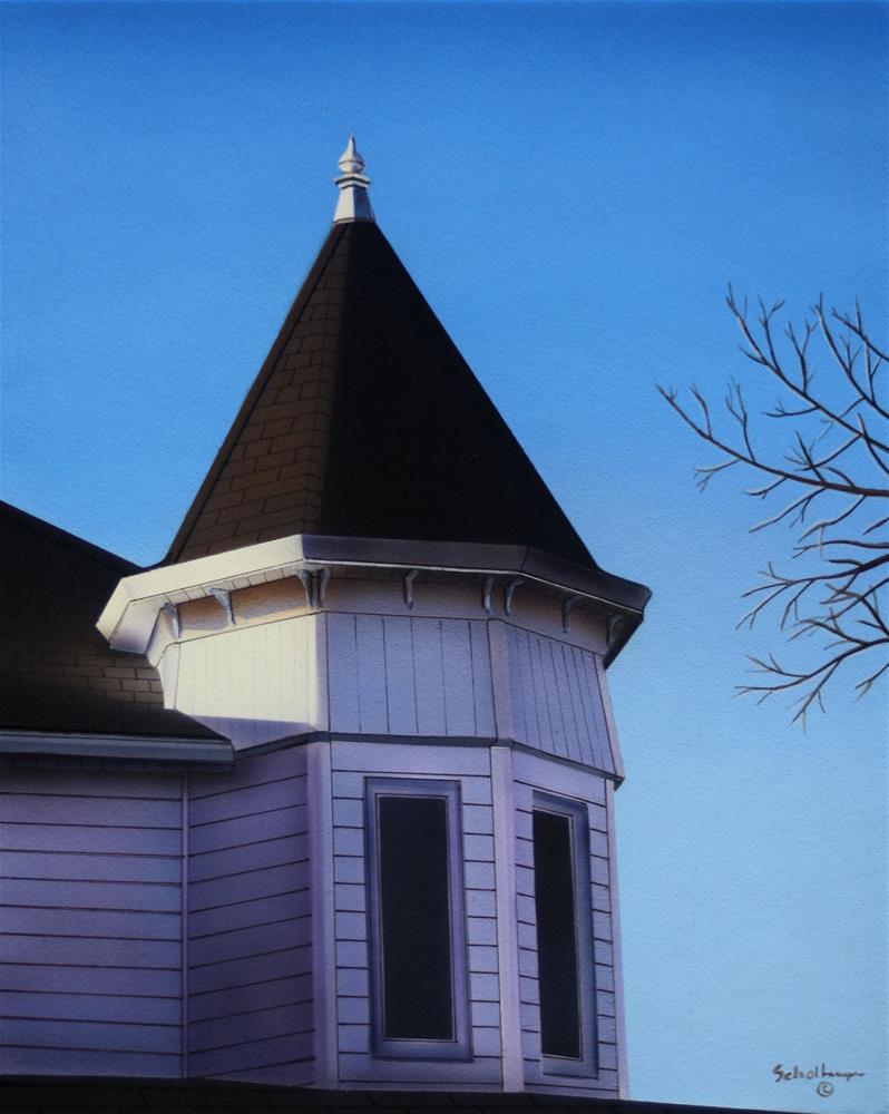"""House on Main (Second Floor)"" original fine art by Fred Schollmeyer"