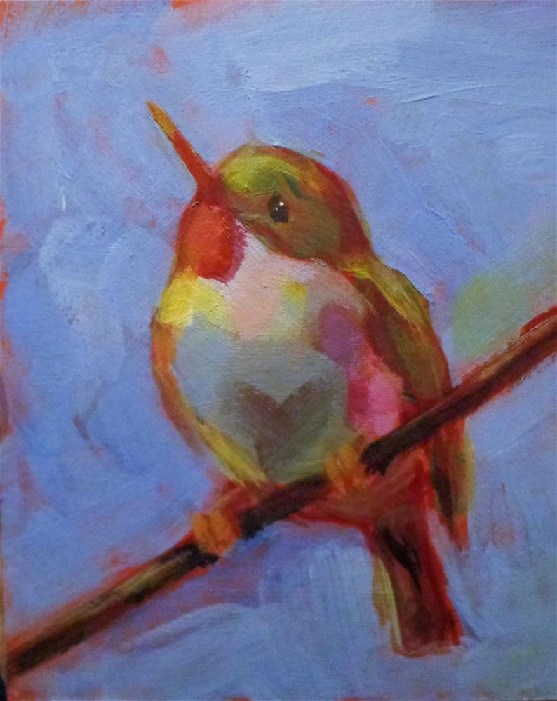 """Tody bird"" original fine art by Maria Z."