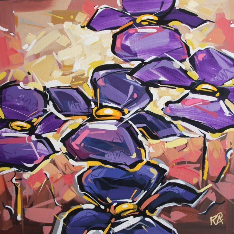 """""""Flower Abstraction 122"""" original fine art by Roger Akesson"""