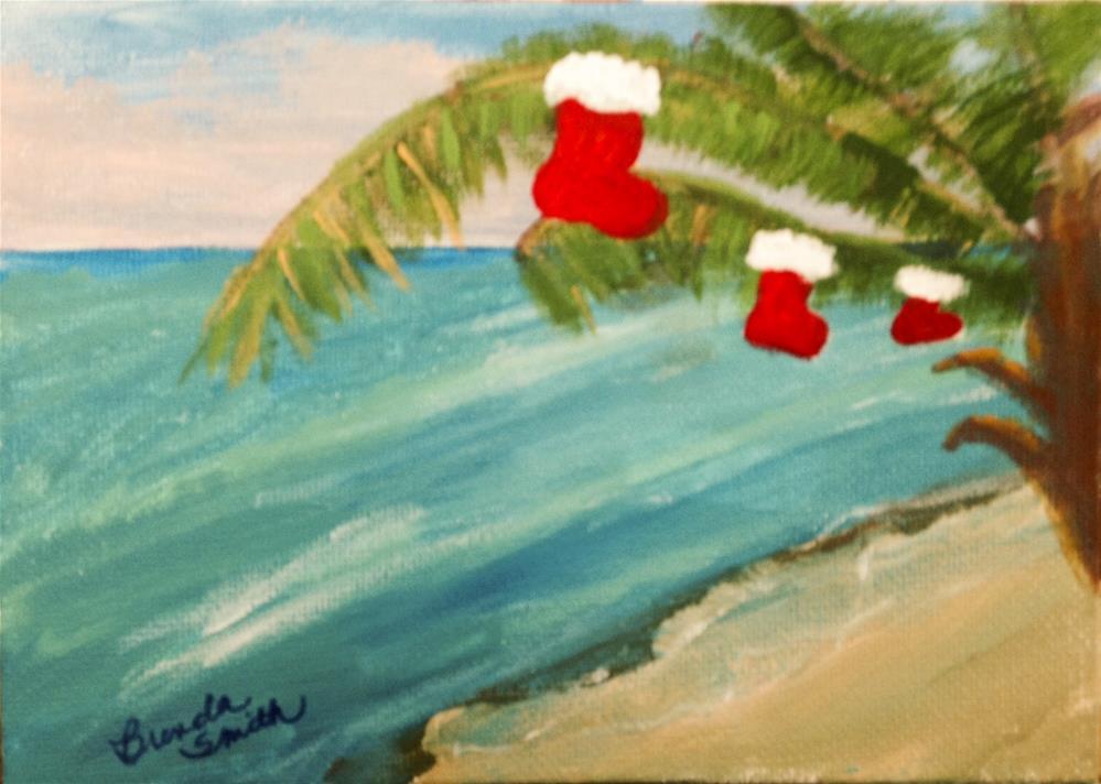 """Christmas Card Project No 3"" original fine art by Brenda Smith"