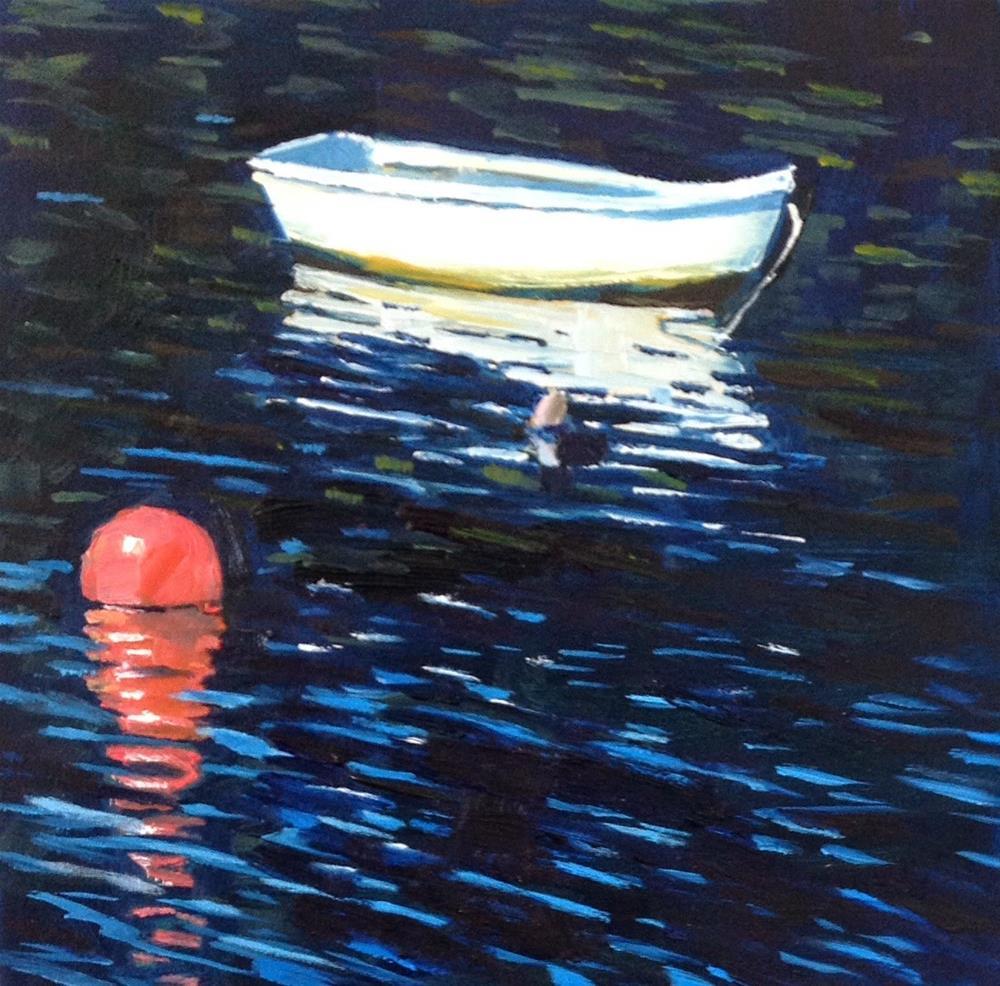 """Ripple Effect, 6x6 Inch Oil Painting by Kelley MacDonald"" original fine art by Kelley MacDonald"