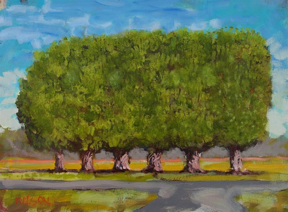 """Landscape with Human Intervention"" original fine art by Rick Nilson"