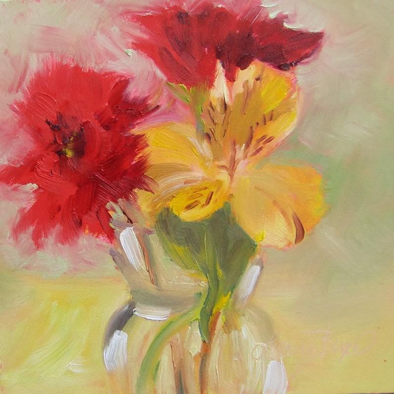 """Spring Bouquet - 113"" original fine art by Laura  Buxo"
