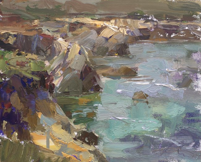 """Seascape California 05 (sold)"" original fine art by Roos Schuring"