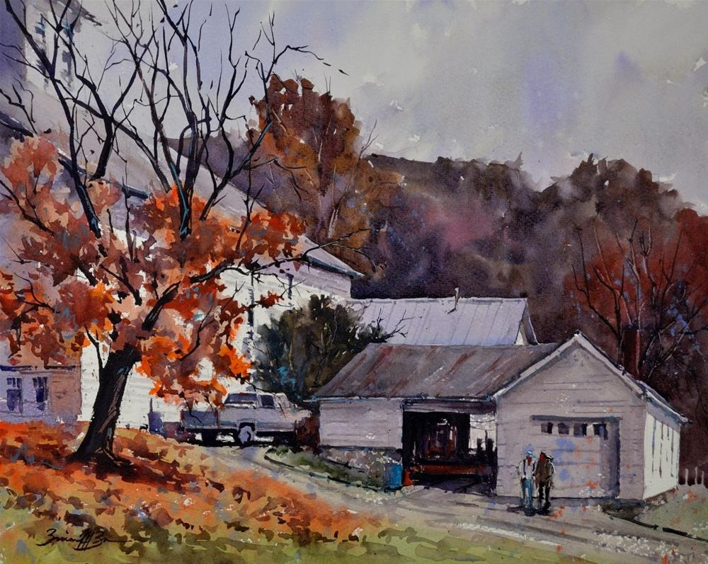 """""""Late Fall at Barree Forge"""" original fine art by Brienne M Brown"""